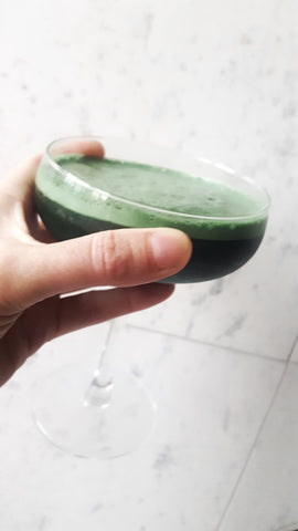 Vegetal milk, chlorophyll, orange and rosemary