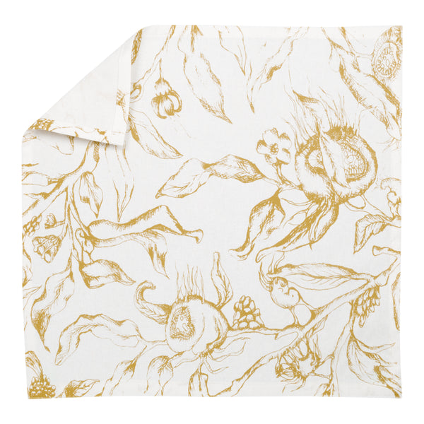 Set of 4 Botanicals Cotton Napkins