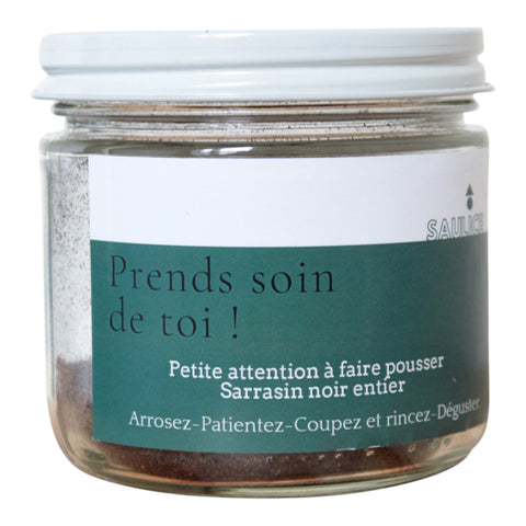 Jar with Buckweat Seeds to Grow - Prends soin de toi