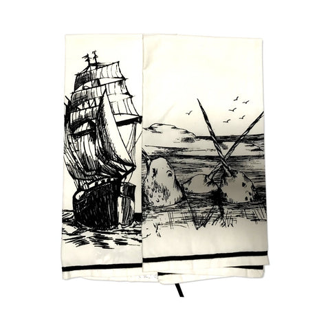 mezari marine sea tea towel