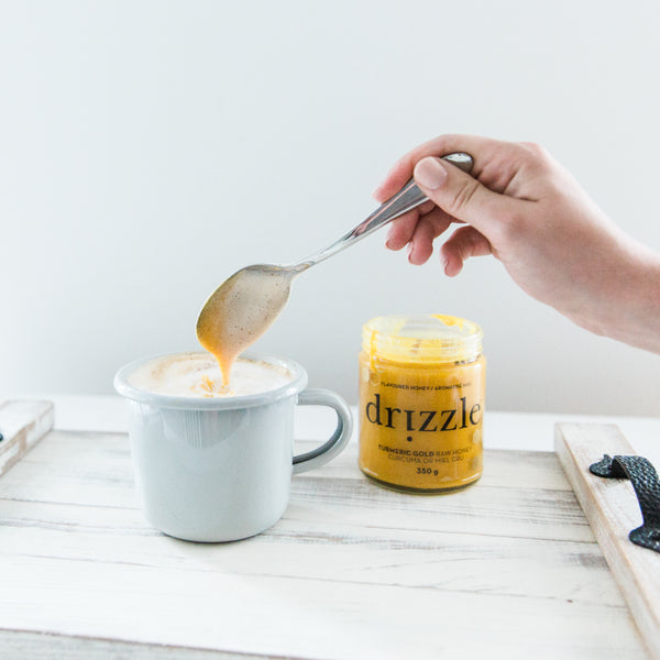 Turmeric Gold Raw Honey-drizzle