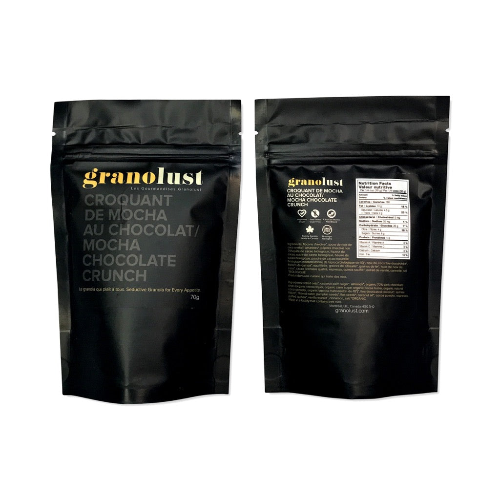 Mocha Chocolate Crunch Organic Granola Granolust