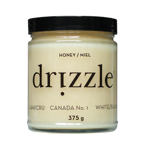 raw white honey-drizzle