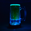 light up beer mug using LED coaster by glow city