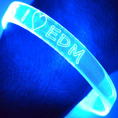 Fiber Optic Bracelets I Heart EDM (2 pack)