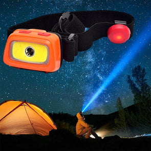 200 Lumens LED headlamp with emergency whistle.