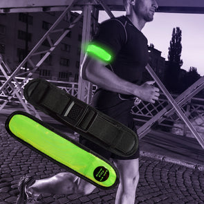 light up armband for night run safety lighting by glowcity