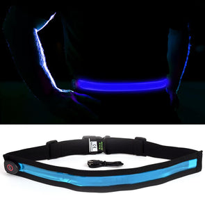 Light up safety belt