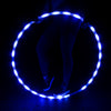 GlowCity Light Up LED Waist Hoops Blue