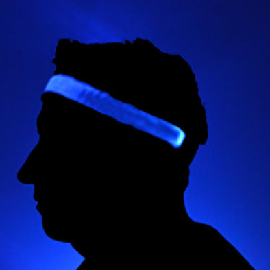 Led light up head band blue