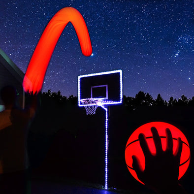 Basketball hoop lighting kit blue