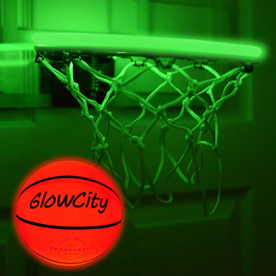 LED Mini Basketball Rim Lighting Kit green