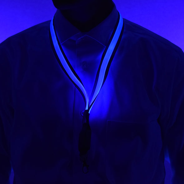 GlowCity Blue LED light up Lanyards