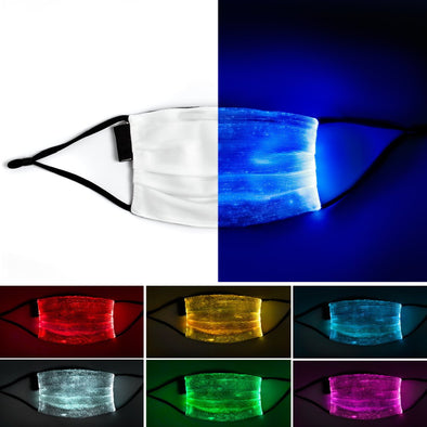 Light Up Fiber optic covid masks