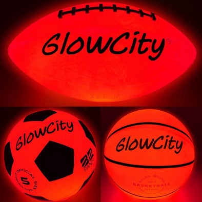 Variety Pack of LED Basketball, Football, and Soccer Ball