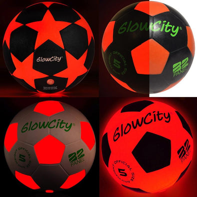 Light up LED Soccer Ball Mix Variety Pack Battery Powered for night game