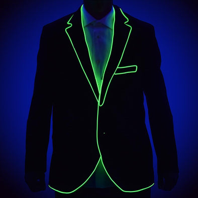 GlowCity ready to light up design suit jacket