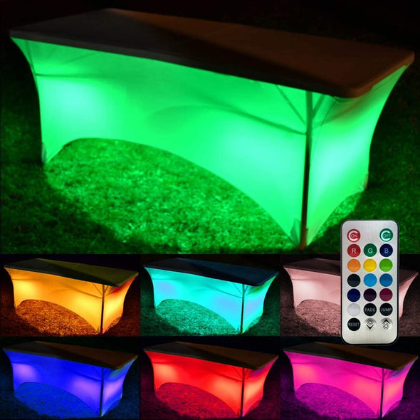 GlowCity LED Light Up Glowing Table Cloths for Parties Event with 13 Vibrant Colors