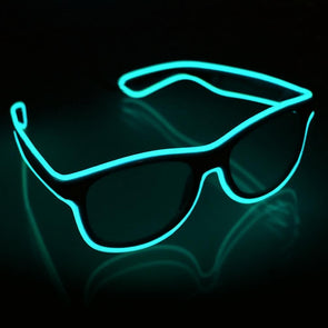 aqua light up glow in the dark shades battery powered by glow city