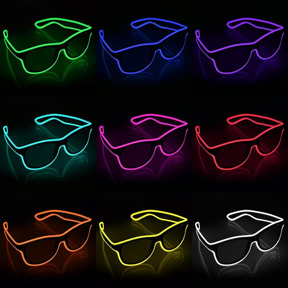 light up glowing shades using premium EL Wire by glowcity