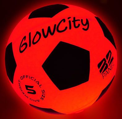 Light Up LED Soccer Ball- Blazing Red
