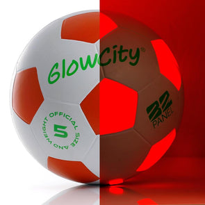 Light Up LED Soccer Ball - White