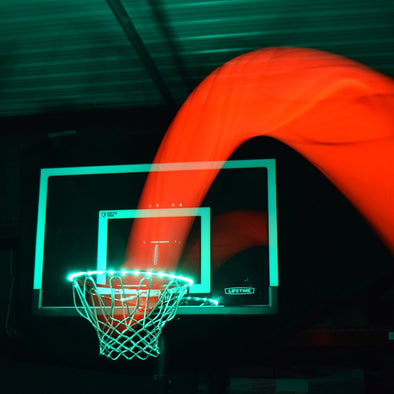 light up basketball rim aqua
