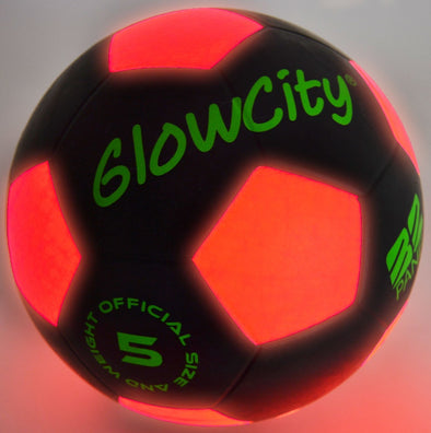 light up black soccer ball