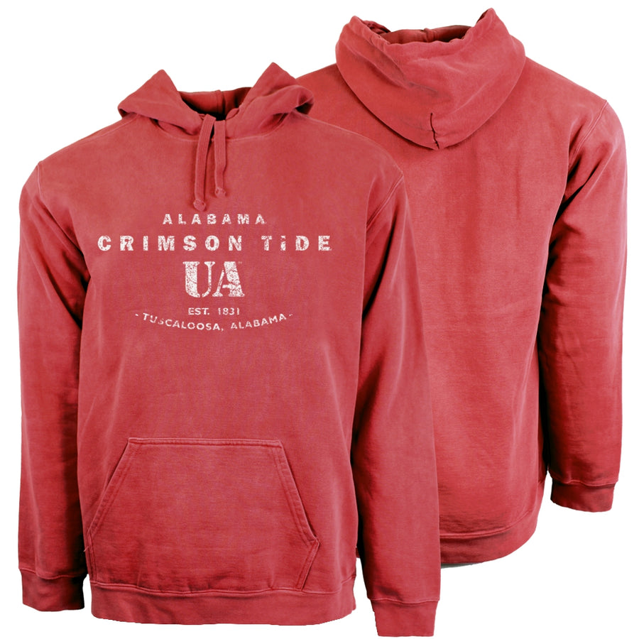 Antique Distressed Hooded Sweatshirt - Comfort Colors