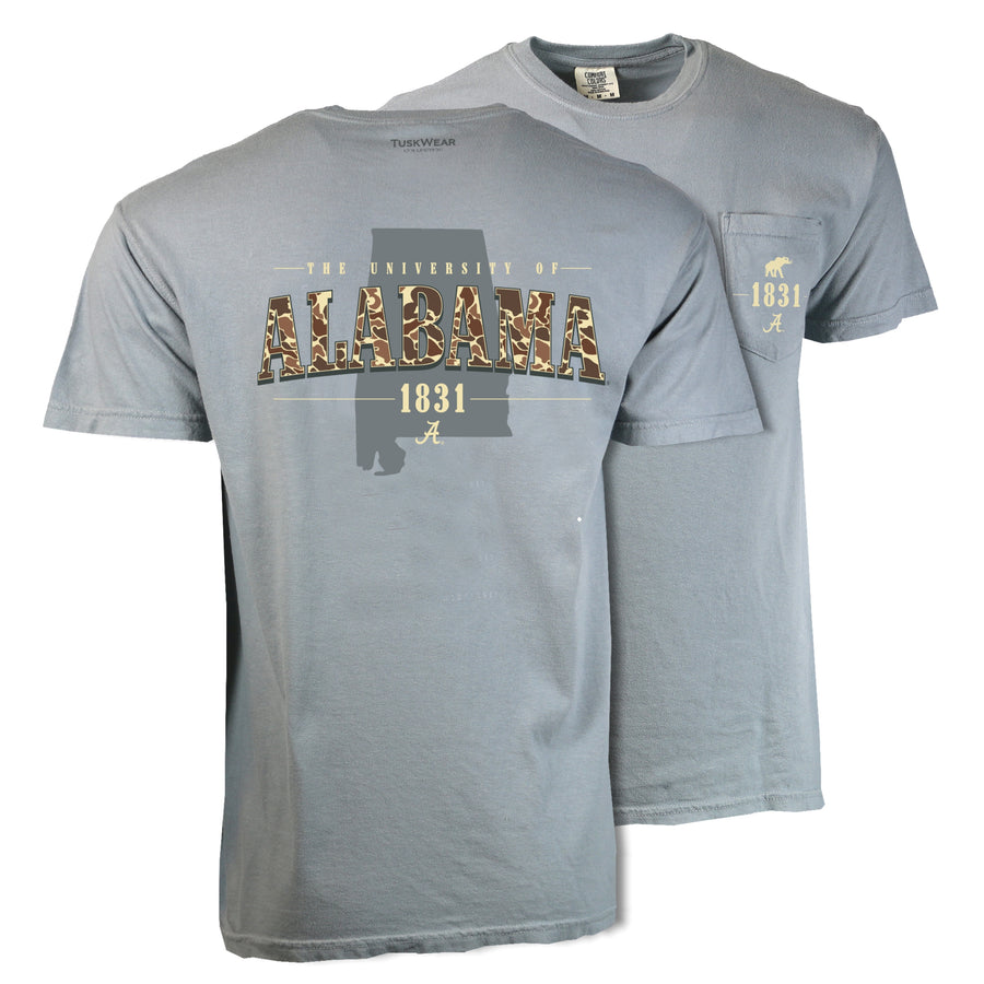 Old School Camo State Tee - Comfort Colors Short Sleeve