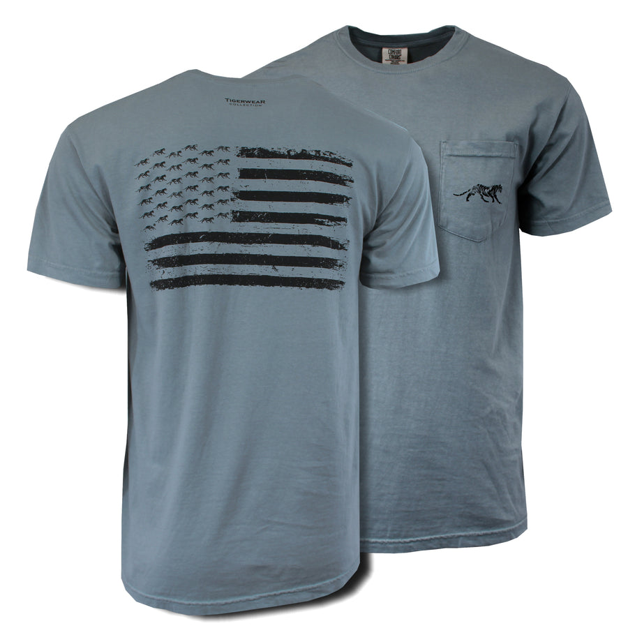 Tigerwear Blackout Flag Tee - Comfort Colors Short Sleeve