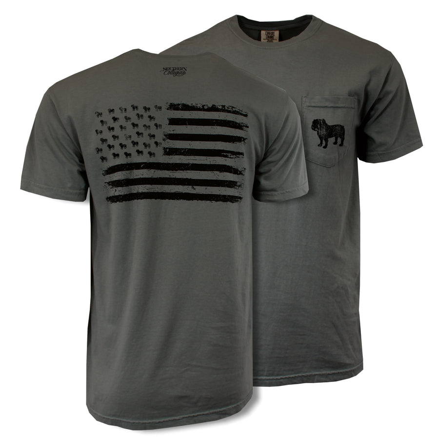 MSU Blackout Flag Tee - Comfort Colors Short Sleeve