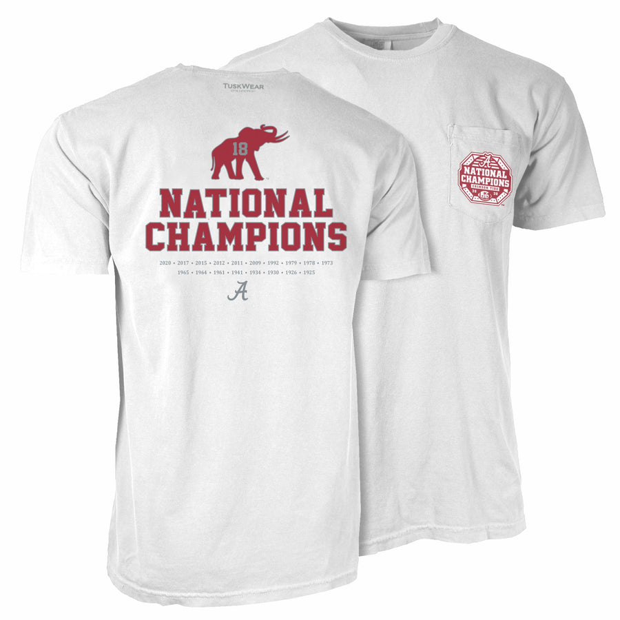 2020 Football National Champions Elephant Tee - Comfort Colors Short Sleeve