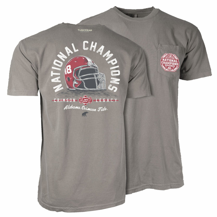 2020 Football National Champions Helmet Tee - Comfort Colors Short Sleeve
