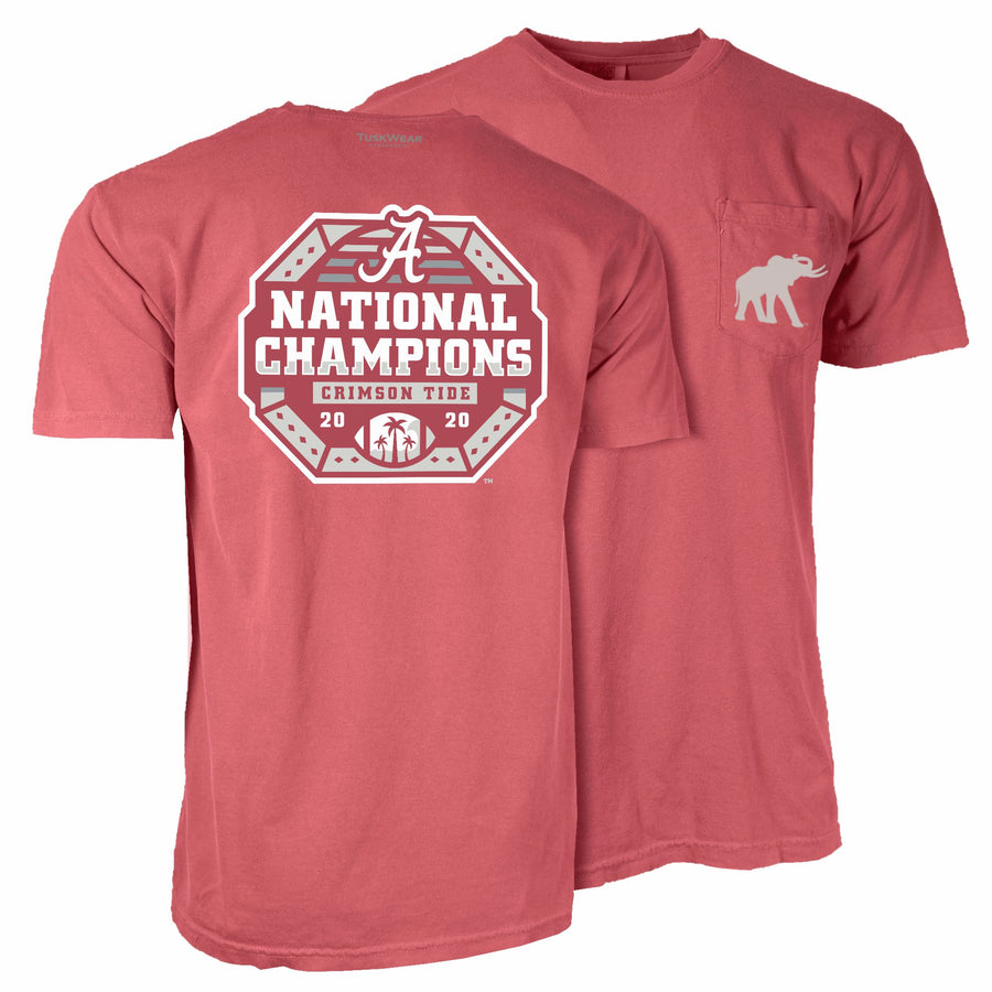 2020 Football National Champions Octagon Tee - Comfort Colors Short Sleeve
