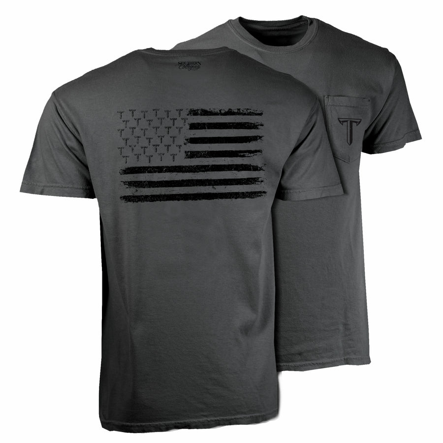 Troy Blackout Flag Tee - Comfort Colors Short Sleeve