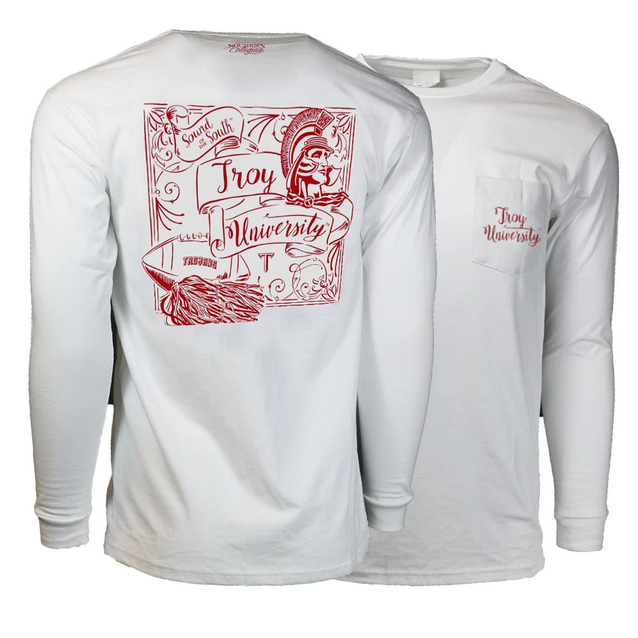 University Script Long Sleeve Tee