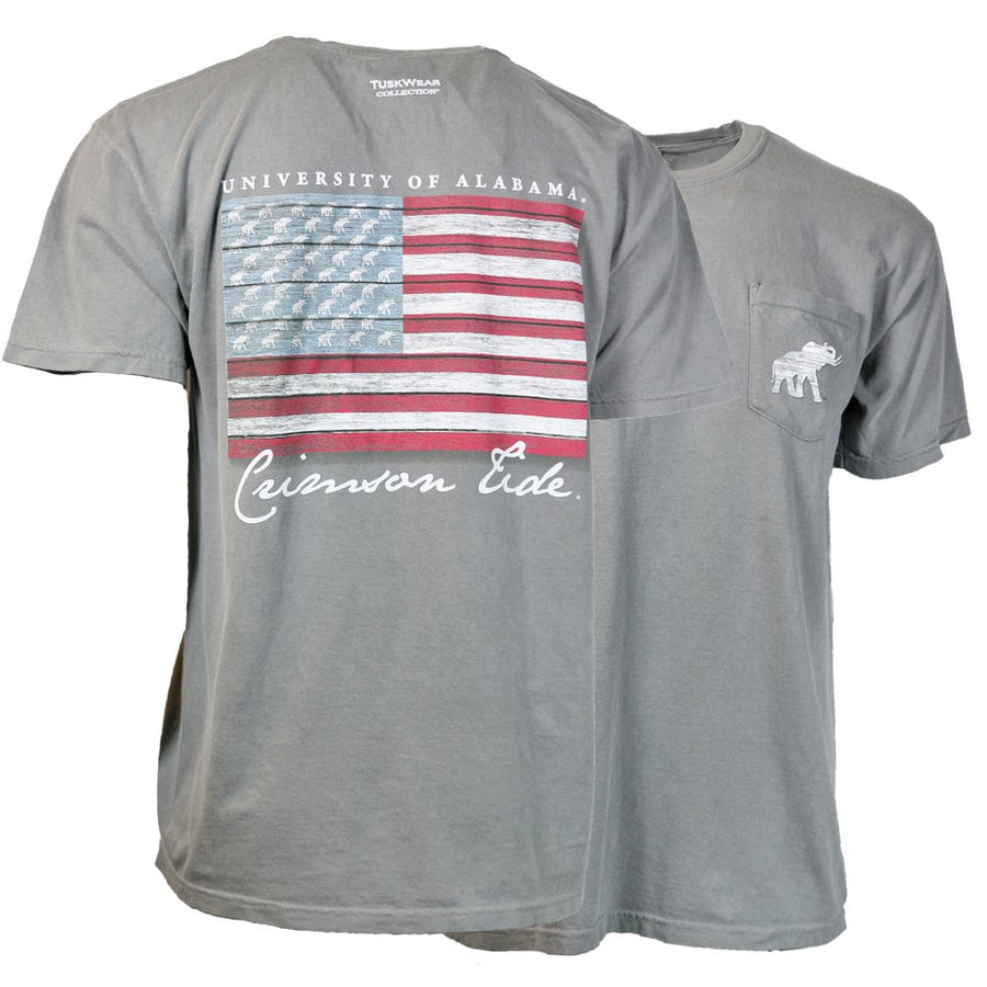 Tuskwear Distressed USA Flag Comfort Colors Tee
