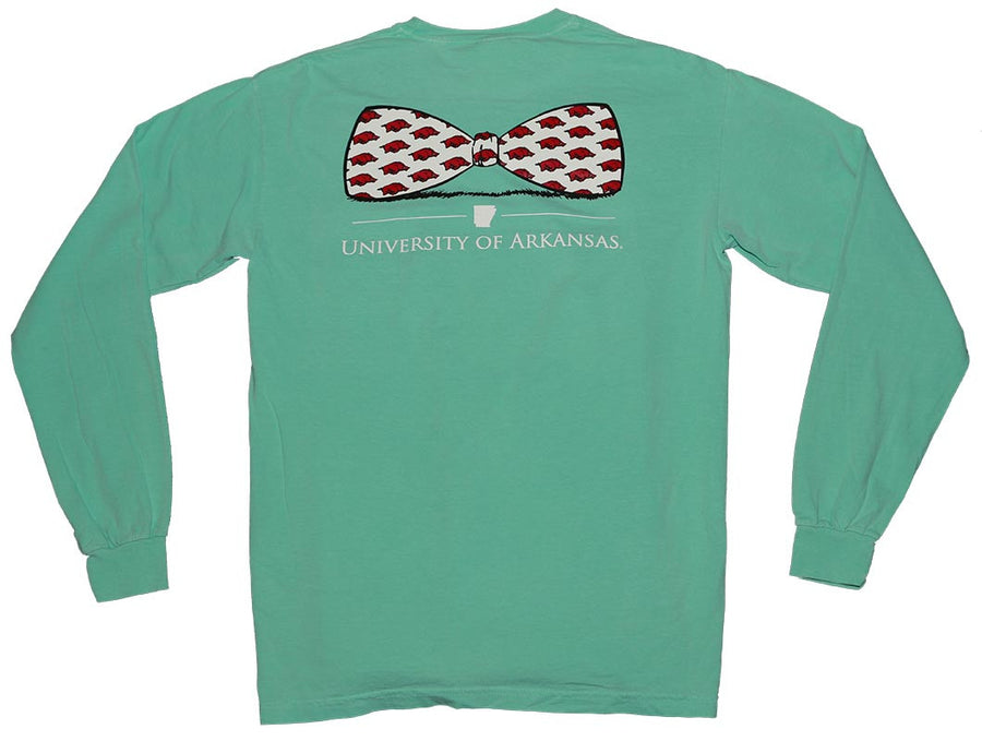 Arkansas Bowtie Long Sleeve T Shirt