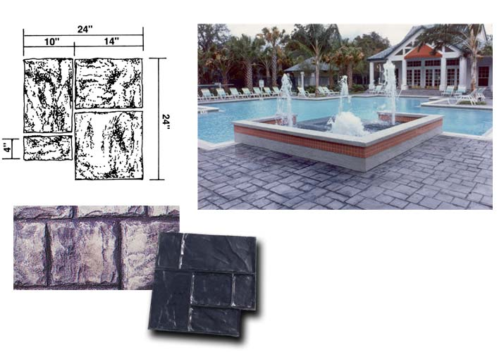 Notched Ashlar Slate Stamp