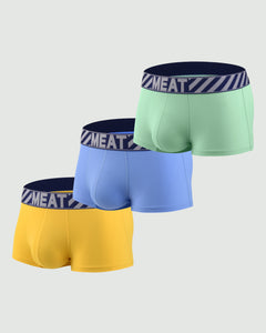 THREE (3) PACK SPORTY PERFORMANCE TRUNKS - DRAFTING