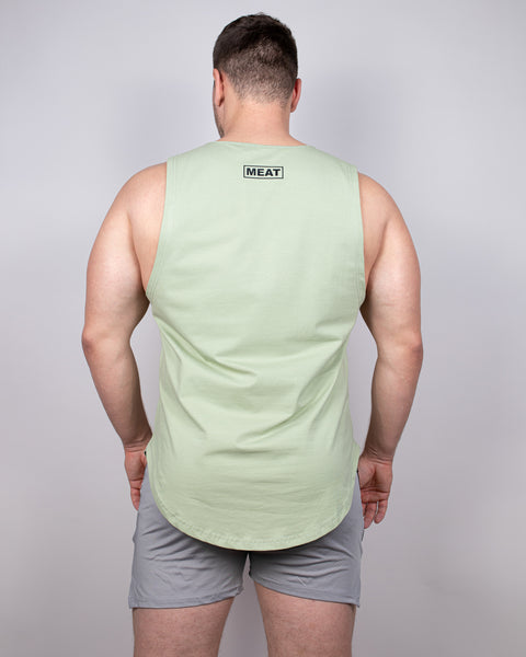 LOOSE-FIT MUSCLE TANK - PISTACHIO