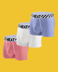 THREE (3) PACK ALL AMERICAN BOXERS - BREEZY 2.0