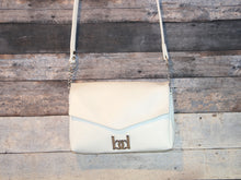 Load image into Gallery viewer, Maya Crossbody - white, vegan leather, handmade, handcrafted