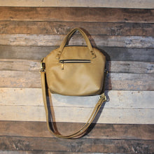 Load image into Gallery viewer, Lola Crossbody - beige, tan, tortilla brown, vegan leather, handmade, handcrafted