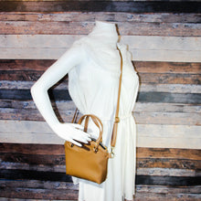 Load image into Gallery viewer, Lola Crossbody - beige, tan, light coffee, vegan leather, handmade, handcrafted