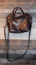 Load image into Gallery viewer, Lola Crossbody (L) - port, burgundy, vegan leather, handmade, handcrafted