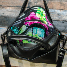 Load image into Gallery viewer, Lola Crossbody (L) - black, vegan leather, handmade, handcrafted