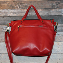 Load image into Gallery viewer, MIDI Day Bag - red, soft, vegan leather, handcrafted, handmade
