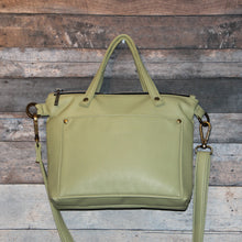 Load image into Gallery viewer, MINI Day Bag - green, celery green, soft, vegan leather, handcrafted, handmade